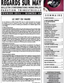 Couverture Le journal de May N° 68 de février 2014